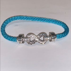 Brighton Interchanges Blue Infinity Bracelet